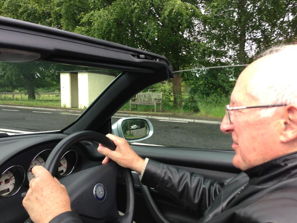 My 83 year old Dad driving me around Wiltshire earlier today.